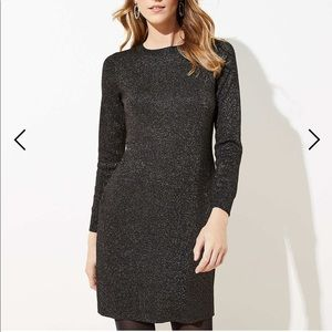 LOFT XSP sweater dress with sparkle